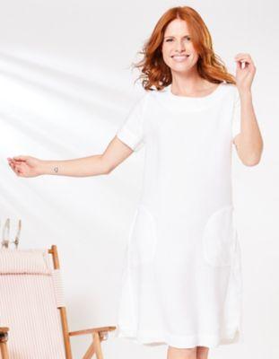 Deerberg Leinen-Kleid Maxime weiß