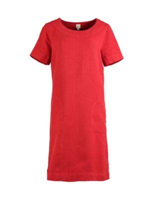 Deerberg Leinen-Kleid Maxime rot