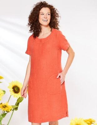 Deerberg Leinen-Kleid Maxime chili