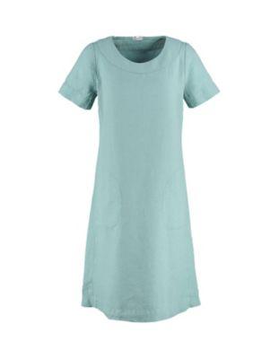 Deerberg Leinen-Kleid Maxime kupfergrün