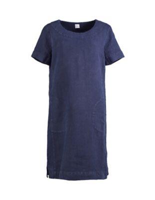 Deerberg Leinen-Kleid Maxime marine