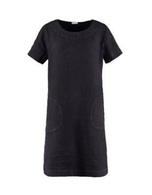 Deerberg Leinen-Kleid Maxime schwarz