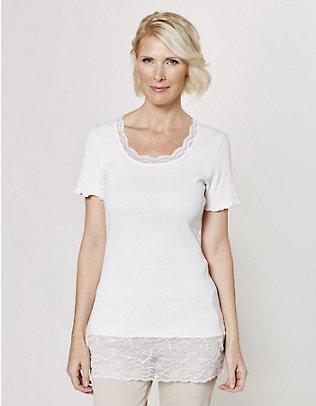 Deerberg Jersey-Long-T-Shirt Mena cremeweiß