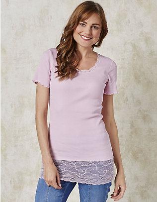 Deerberg Jersey-Long-T-Shirt Mena puderrosé