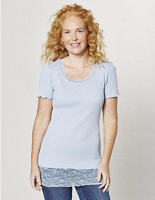 Deerberg Jersey-Long-T-Shirt Mena nebelblau