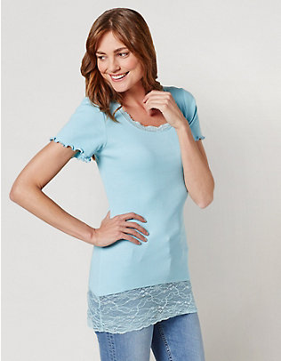 Deerberg Jersey-Long-T-Shirt Mena minzblau