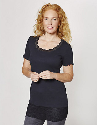 Deerberg Jersey-Long-T-Shirt Mena schwarz