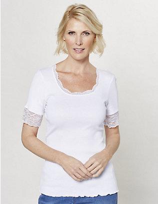 Deerberg Jersey-T-Shirt Kia weiß