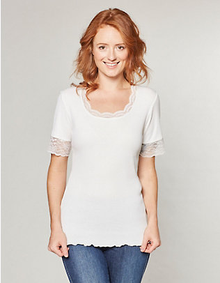 Deerberg Jersey-T-Shirt Kia cremeweiß
