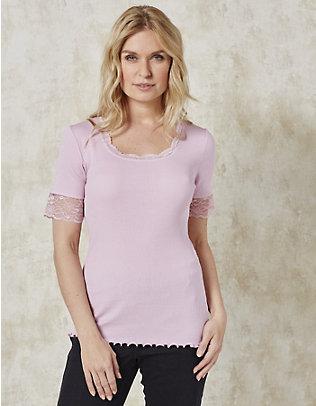 Deerberg Jersey-T-Shirt Kia puderrosé