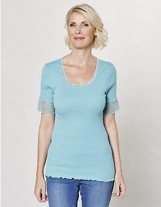 Deerberg Jersey-T-Shirt Kia dunkelmint
