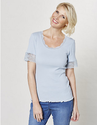 Deerberg Jersey-T-Shirt Kia nebelblau