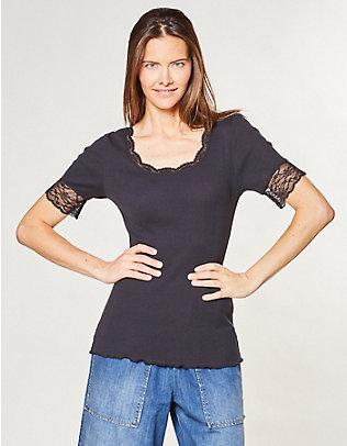 Deerberg Jersey-T-Shirt Kia schwarz