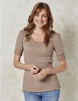 Deerberg Jersey-T-Shirt Kia kiesel