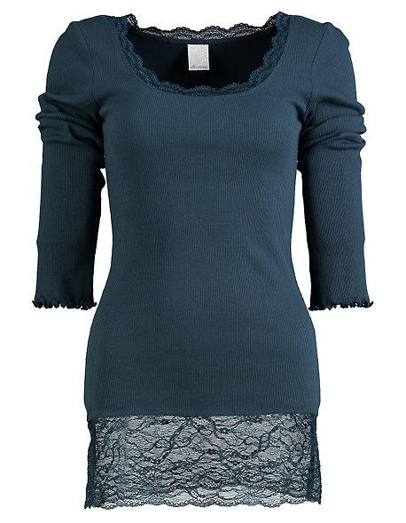 jersey longshirt langarm bea von deerberg in blau deerberg. Black Bedroom Furniture Sets. Home Design Ideas