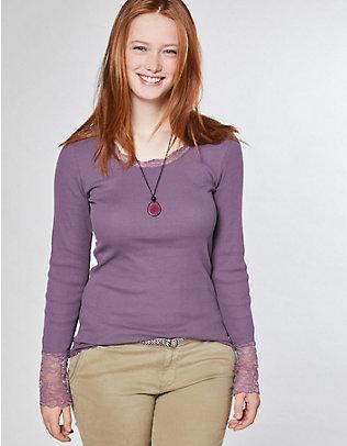 Deerberg Jersey-Shirt, langarm Bala grauviolett