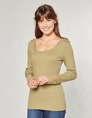 Deerberg Jersey-Shirt, langarm Bala schilfgrün