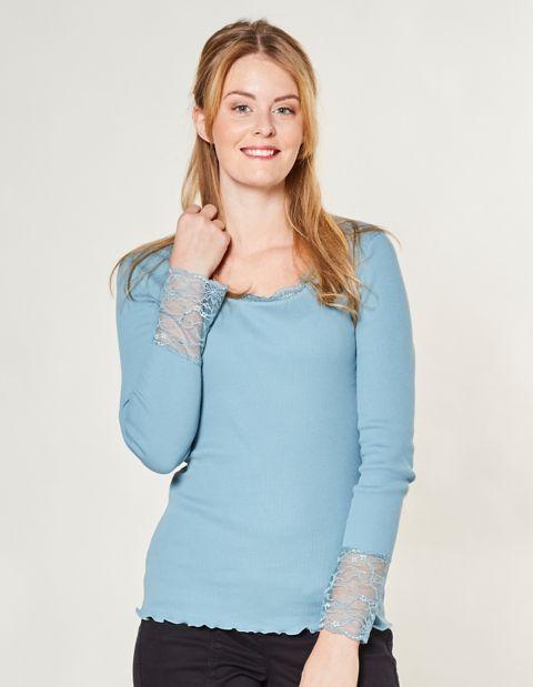Jersey-Shirt, Blau
