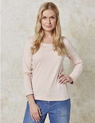 Deerberg Jersey-Shirt, langarm Maje winterrose