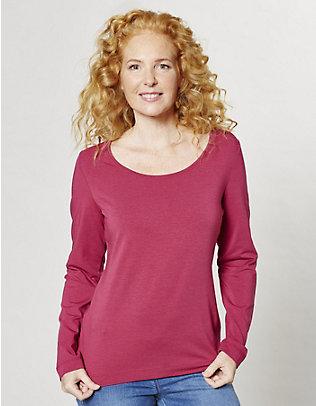 Deerberg Jersey-Shirt, langarm Maje cranberry