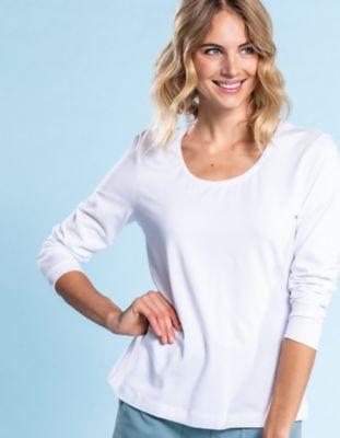 Deerberg Jersey-Shirt Maje weiß