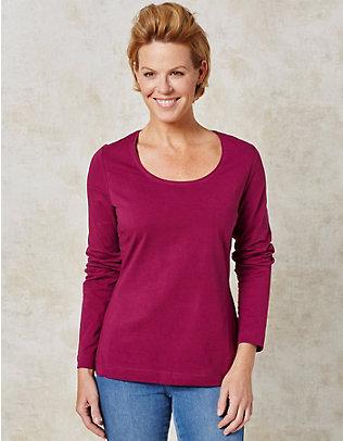 Deerberg Jersey-Shirt, langarm Maje purpur