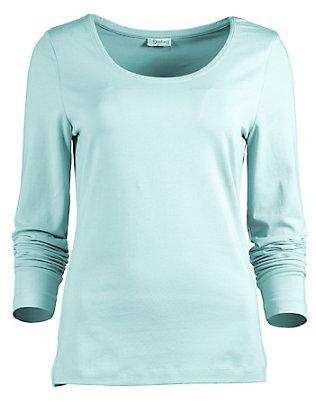 Deerberg Jersey-Shirt, langarm Maje karibikgrün