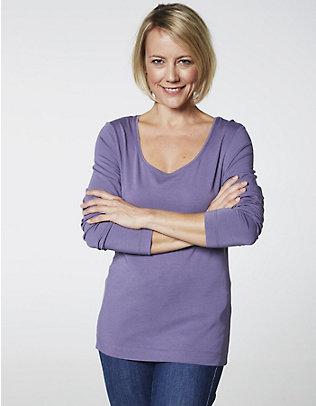 Deerberg Jersey-Shirt, langarm Maje iris