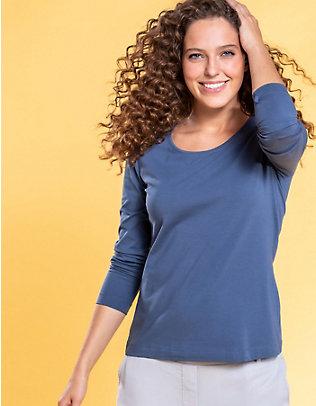 Deerberg Jersey-Shirt, langarm Maje indigo