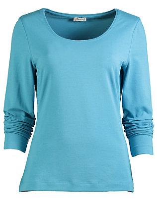 Deerberg Jersey-Shirt, langarm Maje meerblau