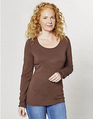 Deerberg Jersey-Shirt, langarm Maje schokolade