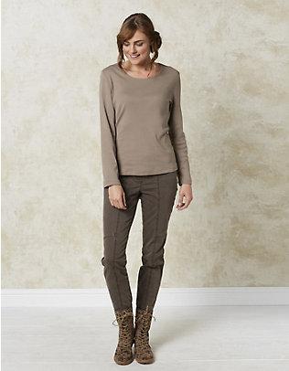 Deerberg Jersey-Shirt, langarm Maje sandstein