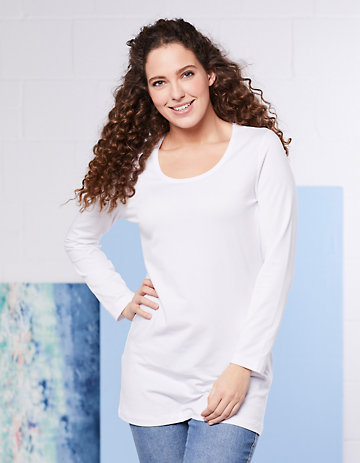 Deerberg Jersey-Longshirt Vinja weiß
