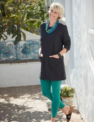 Deerberg Jersey-Leggings Wilma jaspisgrün