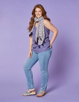 Deerberg Stretch-Jeans Marlis blue-used