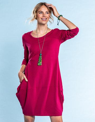 Deerberg Jersey-Kleid Prisca schwertlilie-geringelt