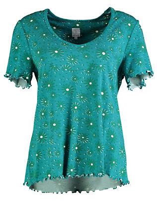 Deerberg Jersey-Druck-Shirt Vienna pazifikblau-geblümt
