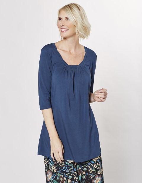 Jersey-Longshirt Kellen, blau