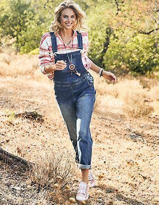 Deerberg Jeans-Latzhose Gisa
