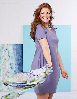 Deerberg Jersey-Kleid Kiki hortensienblau