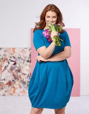 Deerberg Jersey-Kleid Kiki lagunenblau
