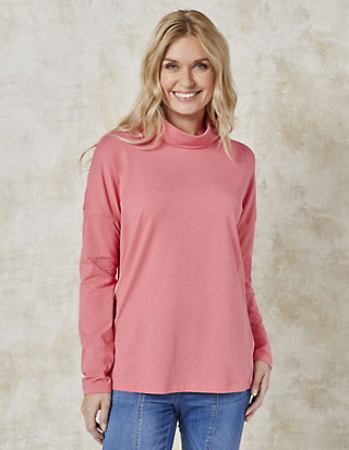 Deerberg Jersey-Shirt mit Rollkragen Herma