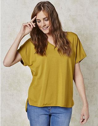 Deerberg Jersey-Oversized-Shirt Fjella senf