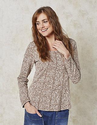 Deerberg Jacquard-Jersey-Shirt Inola