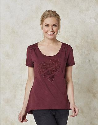Deerberg Jersey-T-Shirt Ilia portwein
