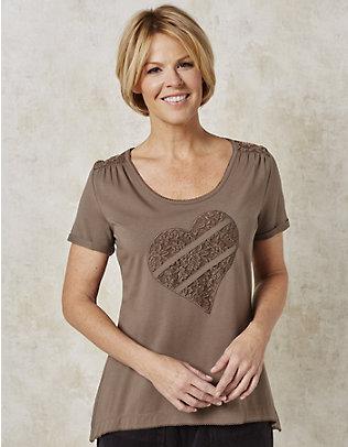 Deerberg Jersey-T-Shirt Ilia nougat