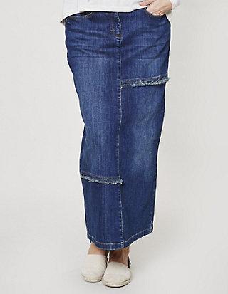 Deerberg Stretch-Jeans-Rock Anka