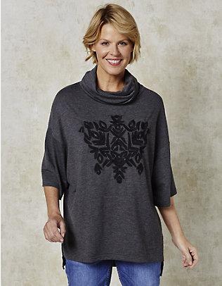 Deerberg Jersey-Oversized-Shirt Shirin anthrazit