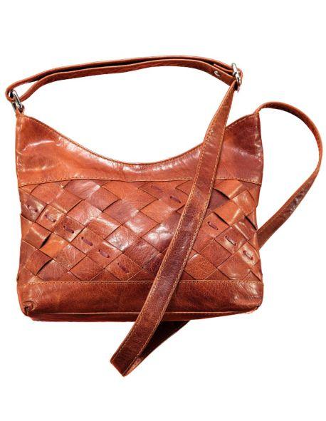 Leder-Tasche Talita, Braun
