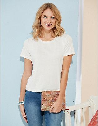 Deerberg Jersey-T-Shirt Dana weiß